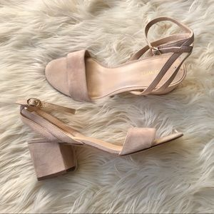 NINE WEST creme heels